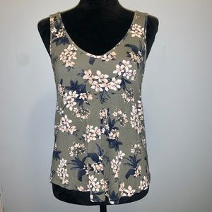 American Eagle Outfitters Crepe Floral Tank